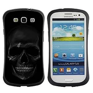 Pulsar iFace Series Tpu silicona Carcasa Funda Case para SAMSUNG Galaxy S3 III / i9300 / i747 , Black Skull