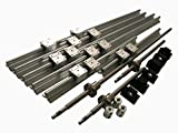 Joomen CNC SBR16 support rail RM1605 ballscrew 350/850/1250mm Linear Motion Kit