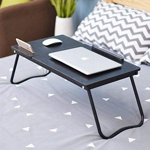 Noir Support Ordinateur Portable Stand Bureau Portable 36 * 64cm Repliable Plateau Petit D/éjeuner Lecture pour Enfants DlandHome Table de Lit//Canap/é Foldable /& Ajustable