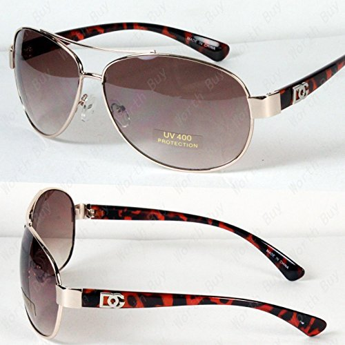 New DG Eyewear Aviator Fashion Designer Sunglasses Shades Mens Women Gold/Tortoise (Aviator Sunglasses Dg)