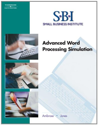 Sbi  Advanced Word Processing Simulation  With Cd Rom   Word Processing I