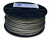 T.W . Evans Cordage 19-102 Stainless Steel Cable, 1/16-Inch x 500-Feet