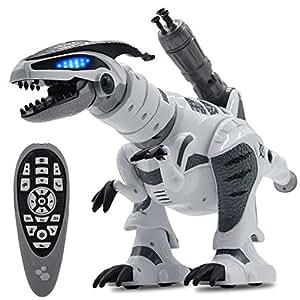 JIEQI Dinosaur Toys,Robot Dinosaur Remote Control Dinosaurs RC Robots Toys for Kids Boys
