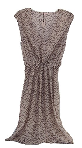 Victoria's Secret Swim Cover up Maxi Dress Caftan Rhinestone Beach Animal Print Small