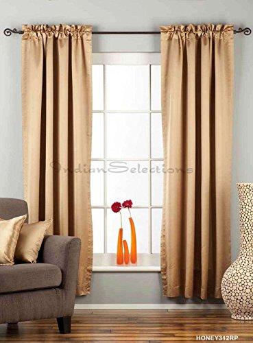 Taupe Rod Pocket 90% blackout Café Curtain / Drape / Panel – 50W x 24L – Piece Review