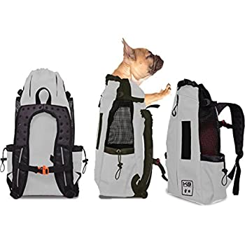 K9 Sport Sack AIR   Pet Carrier Backpack For Small and Medium Dogs   Front Facing Adjustable Pack   Veterinarian Approved Safe Bag For Travel To Carry Canine (X-Small, Grey)