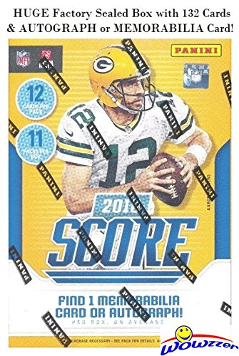 (2018 Score NFL Football EXCLUSIVE Factory Sealed Blaster Box with 132 Cards & AUTOGRAPH or MEMORABILIA Card! Look for Rookies & Auto's of Baker Mayfield, Saquon Barkley, Sam Donald & More! WOWZZER!)