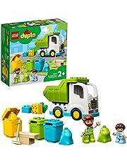 LEGO 10945 DUPLO Town Vuilniswagen en Recycling Educatief Speelgoed voor Peuters van 2 Jaar, Vrachtwagen Set