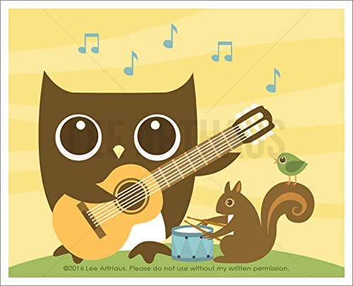 owl playing the guitar - photo #7