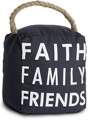 Pavilion Gift Company 72159 Faith Family Friends Door Stopper, 5 by 6-Inch by Pavilion Gift Company