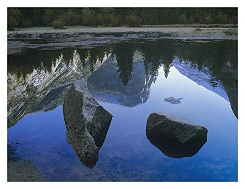 Global Gallery Mount Watkins Reflected in, Mirror Lake, Yosemite National Park, California-Paper Art-34''x26'' by Global Gallery