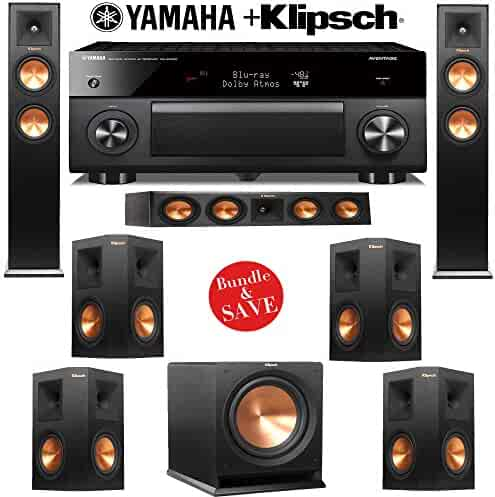 Klipsch RP-250F 7.1 Reference Premiere Home Theater System with Yamaha RX-A2060BL 9.2-Ch Network A/V Receiver