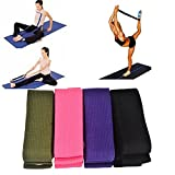 PeleusTech® Yoga Stretching Stretch Strap D-Ring Pilates Belt Figure Waist Leg Fitness Exercise Gym