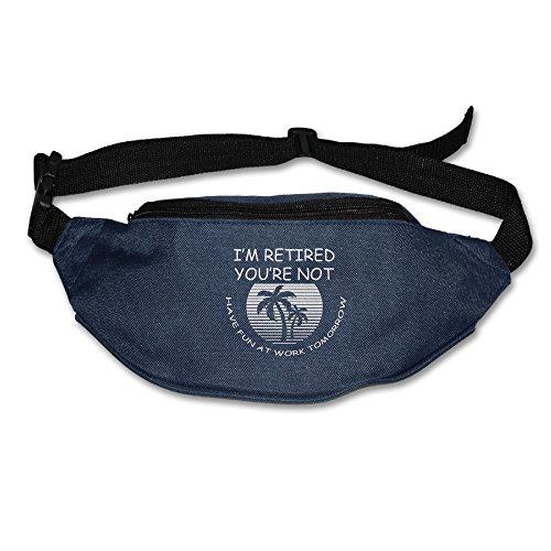 Ada Kitto I'm Retired Have Fun At Work Mens&Womens Lightweight Waist Pack For Running And Cycling Navy One Size by Ada Kitto