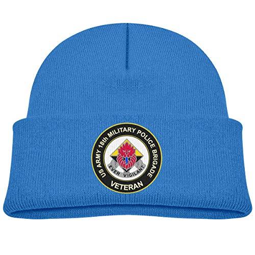 Lapptty Cap US Army 18th Military Police Brigade Veteran Boy Girl Beanie Hat Knitted Beanie Knit Beanie Blue