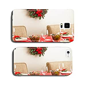 Table setting with real tree decoration cell phone cover case Samsung S6
