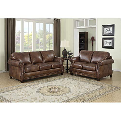 Sofaweb.com Sterling Cognac Brown Italian Leather Sofa and ()
