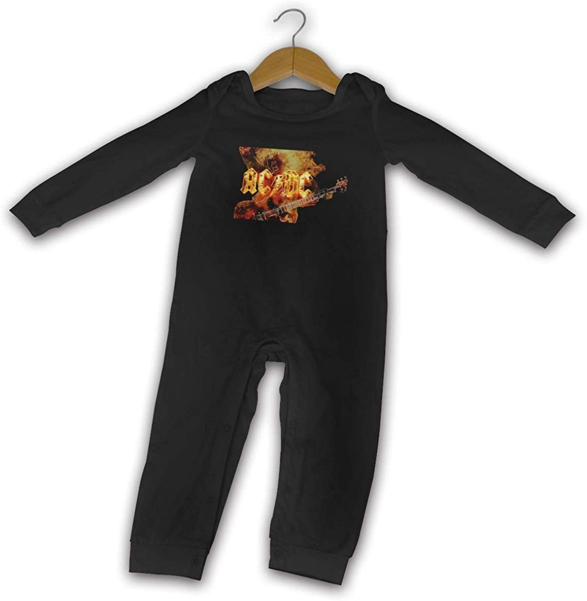Qq1-asd-store ACDC Boys//Girls Baby Cotton Long Sleeve Romper Warm Bodysuit