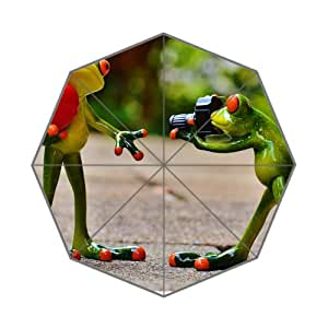 Frogs Love Valentines Day Pose Customized Umbrellas High Quality Printing