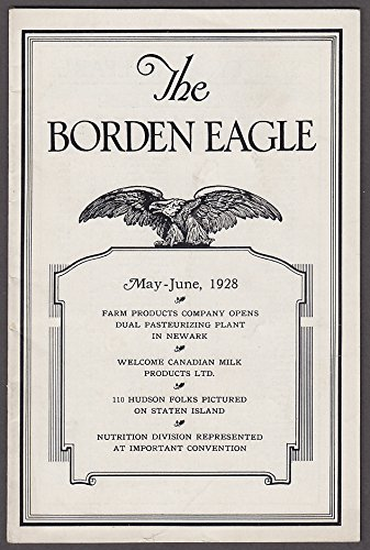 The BORDEN EAGLE 5-6 1928 Newark Pasteurization; Staten Island; Canadian ()