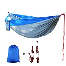 YUEDGE Lightweight Portable Durable Nylon Hammock for Outdoor,Traveling, Camping, Hiking, Backpacking