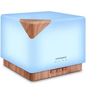 Urpower 700 ml Square Aromatherapy Essential Oil Diffuser