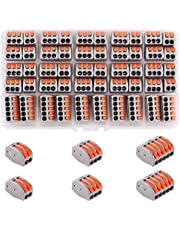 Kinstecks 50PCS 2/3/5 Conductor Assortment Pack Conductor Compact Splicing Connector for Electrical Solid Stranded Flexible Wires