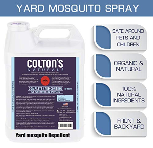 Colton's Naturals Mosquito Repellent Yard Perimeter Outdoor Concentrate Spray Barrier Pet & Kid Safe (128) (Best Natural Mosquito Repellent For Yard)