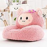 "Kids Mini Lounger Sofa,Bean Bag Chair,Novelty Gift Pink Fluffy Sheep PP Cotton Cute Cartoon Washable 21""x17"""