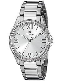 Titan Women's 9955SM01 Analog Display Quartz Silver Watch