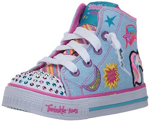 Skechers Kids Girls' Shuffles-Twist N' Turns Sneaker,DENI...