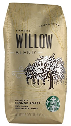 Starbucks - Roasted Unbroken Bean Coffee - 16 oz - Pack of 2 (Willow Blend)