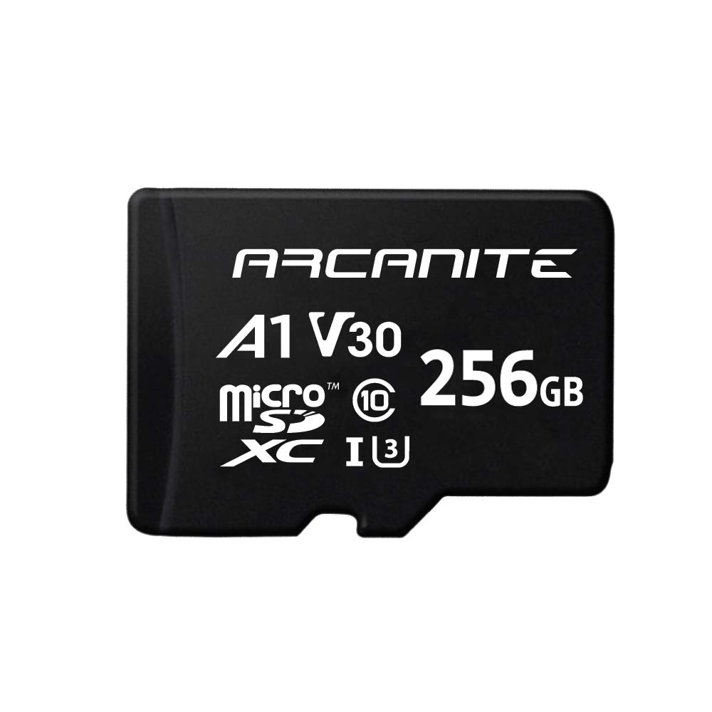 ARCANITE 256GB microSDXC Memory Card with Adapter - UHS-I U3, A1, V30, 4K, C10, Micro SD - AKV30A1256 by ARCANITE