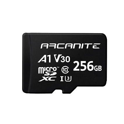 ARCANITE - Tarjeta de memoria microSDXC de 256 GB con adaptador, UHS-I U3, A1, V30, 4K, Clase 10, Micro SD - AKV30A1256