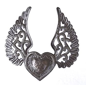 Amazoncom Milagro Heart With Wings Flying Heart Tattoo Art