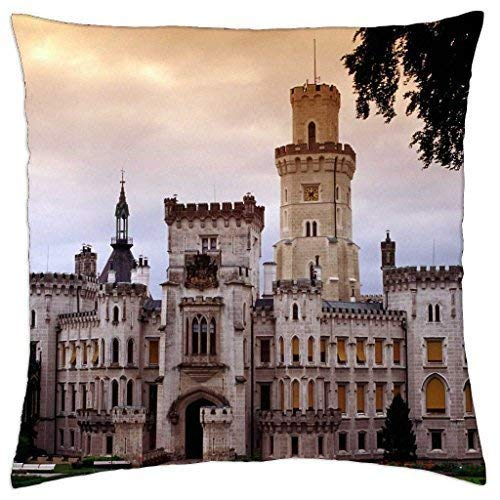 JOMYY Throw Pillow Covers, Shower Curtain Hluboka Chateau Czech Republic - Throw Pillow Cover Case 18 X 18 ()