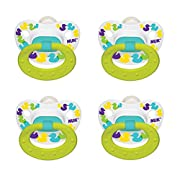 NUK Confetti Ducks Orthodontic Silicone Pacifier (4 PACK)