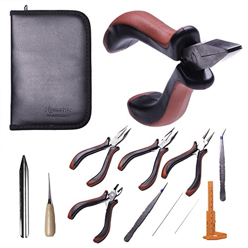 Best 11 Piece Jewelry Making Supply Kit - Jewelry Pliers, Repair Tool Set, DIY, Crafting Kit, Beading Tools, Earrings, Necklaces, Wire Wrapping, Gift Set - Includes Storage Case