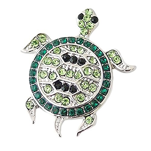 Lovmoment Snap Sea Turtle 20mm Snap Button with Rhinestones Snap Jewelry Charms (Earrings Turtle Charm)