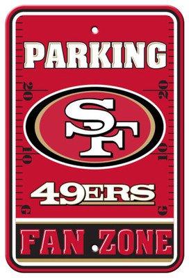 San Francisco 49ers NFL Fan Zone Parking Sign - 12