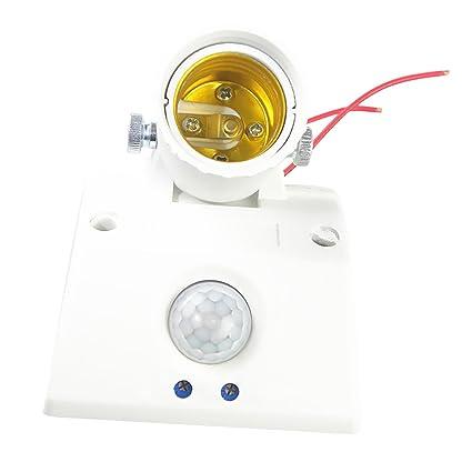 MagiDeal Interruptor de Luz de Sensor de Movimiento Lámpara Titular Infrarrojo Cuerpo Base Universal