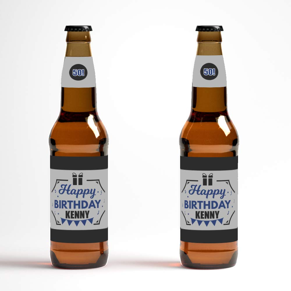 graphic about Printable Beer Bottle Labels known as : Custom-made Birthday Beer Bottle Labels - mounted