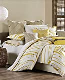 Echo Design Abstract Palm Twin Sheet Set White / Tan