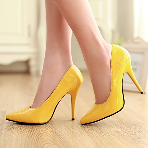 Stiletto Daily Pointed Basic Yellow Court Toe Office Shoes Women's Heel SaraIris Pumps tfqZ88