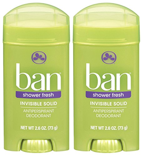 Ban Invisible Solid Deodorant, Shower Fresh - 2.6 oz - 2 - Ban Canada