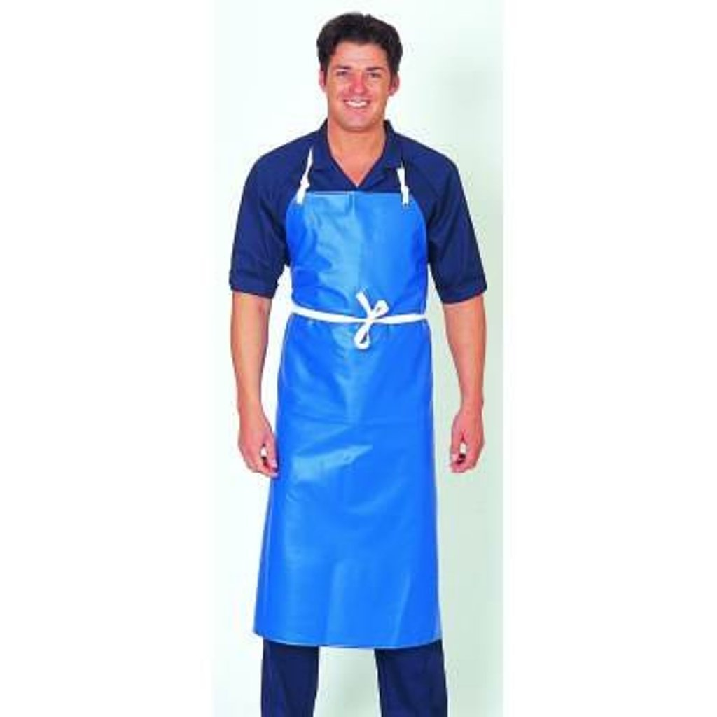 White gloves apron cleaning services - Blue Waterproof Pvc Apron By Denny S