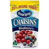 Ocean Spray Craisins Dried Cranberries Blueberry Juice Infused - 6 oz Bag