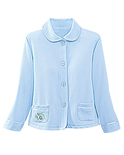 Knit Bed Jacket (5303 XL BLUE KAYANNA BEDJAKCET)