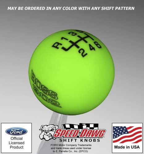 Speed Dawg M502PLY-EBK-4RUL Shift Knob Plymouth Logo with Engrave, 4 Speed Pattern