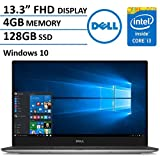 "2016 Newest Dell XPS 13-9350 Ultrabook Laptop (13.3"" Infinity Edge Display FHD 1080p, 6th Gen Intel Skylake i3-6100U 2.3GHz, 4GB RAM, 128GB SDD HDD, Bluetooth, Windows 10) (Certified Refurbished)"